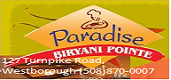 Paradise Biryani Westborough