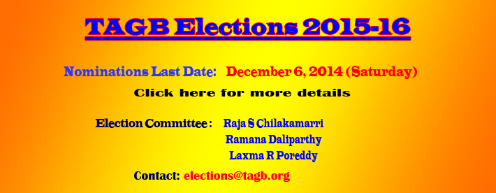 TAGB ELECTIONS (2015-­16) NOTIFICATION