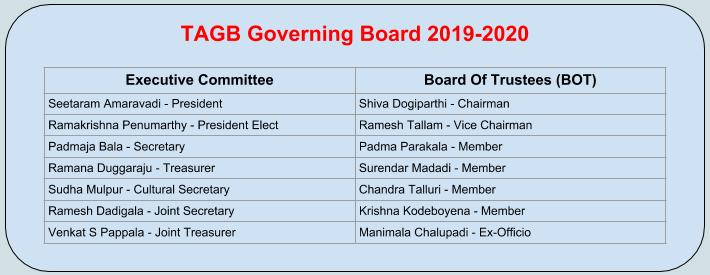 TAGB Governing Board 2019-2020